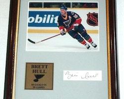 Brett Hull St. Louis Blues Framed Picture & Autograph w/COA