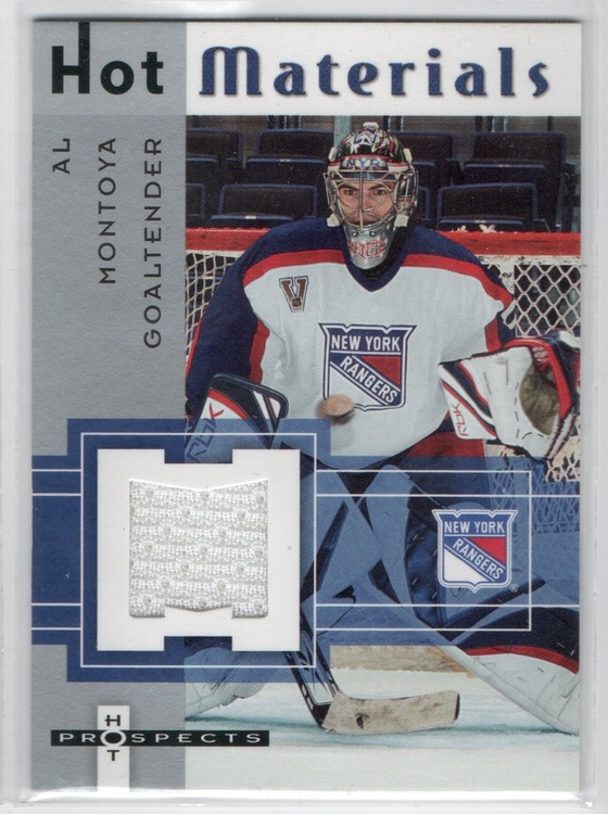 2005-06 Hot Prospects Hot Materials #HMMO Al Montoya (25-CL21-GAMEUSED-RANGERS)