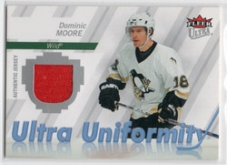 2007-08 Ultra Uniformity #UDM Dominic Moore (25-CL32-GAMEUSED-WILD-PENGUINS)