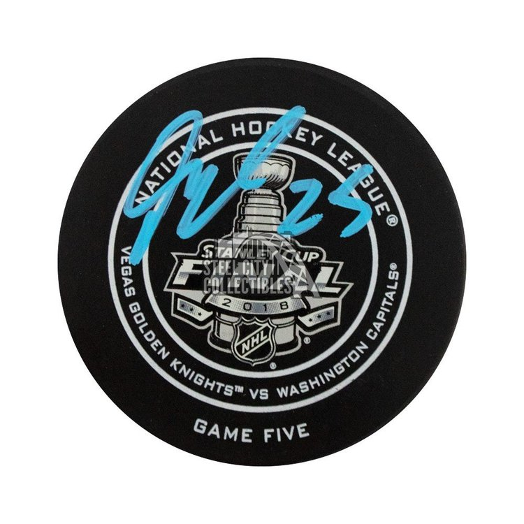 Devante Smith-Pelly Autographed 2018 Stanley Cup Finals Hockey Puck - Fanatics
