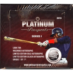 2013 Onyx Authenticated Platinum Prospects Series 1 (Hobby Box)