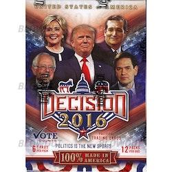Decision 2016 Trading Cards (Blaster Box)