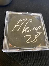 Alexander Semin Autographed Hockey Puck JSA COA
