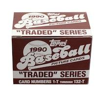 MLB 1990 Topps Baseball Traded Series (Mini Box - 132 kort)