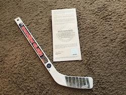 Taylor Hall Autographed Signed Mini Stick Hockey Stick UPPER DECK COA