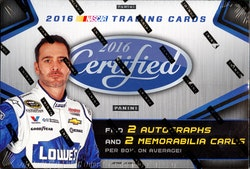 2016 Panini Certified Nascar Racing (Hobby Box)