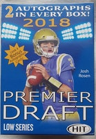 2018 Sage Hit Premier Draft Low Series Football (Blaster Box)