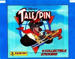 Disney TaleSpin Trading Sticker Pack