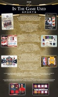 2020-21 Leaf In The Game Used Sports (Hobby Box)