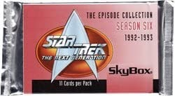 Star Trek: The Next Generation Season 6 Factory Sealed Trading Card Pack