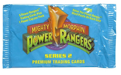 1994 Power Rangers Mighty Morphin Premium Trading Cards Series 2 (Löspaket)