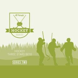 2020-21 Hit Parade Autographed Hockey THREE STARS 8x10 Photo (Series 2)