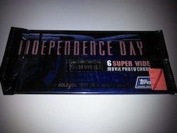 Topps 1996 Independence Day Widevision Movie Cards (Löspaket)