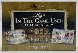 2020-21 Leaf In The Game Used Hockey (Hobby Box)