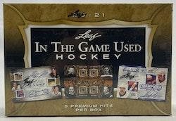 2020-21 Leaf In The Game Used Hockey (Hobby Box)