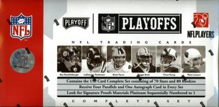 2006 Playoff NFL Playoffs Football Factory Set (Box Tin)