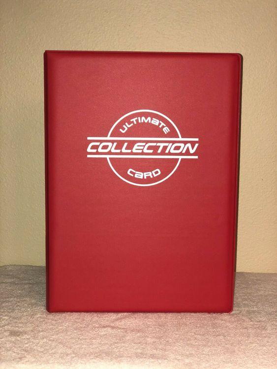 TOPLOADER BINDER inklusive 30 plastfickor för kort i toploader (RÖD)