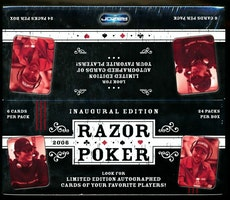 2006 Razor POKER INAUGURAL EDITION Trading Card Box