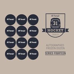 2020-21 Hit Parade Autographed FROZEN DOZEN Hockey Puck (Series 14)