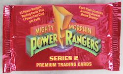 1994 Power Rangers Mighty Morphin Premium Trading Cards Series 2 (Löspaket)