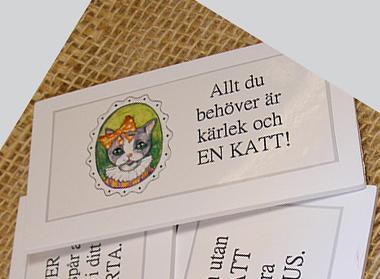 Magnet med 3 olika motiv och texter