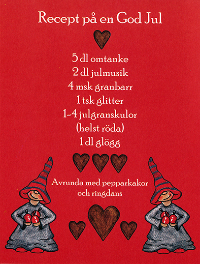 Julkort, Recept på en God Jul