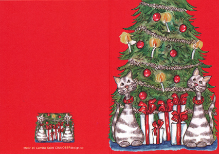 Dubbelt julkort , 4 olika motiv.