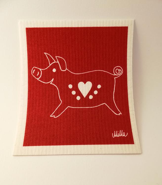Disktrasa, julbock och gris