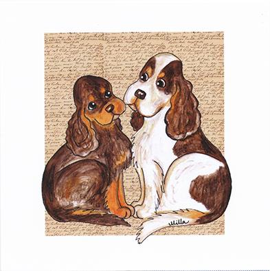 Kort, Hundar 2 olika motiv
