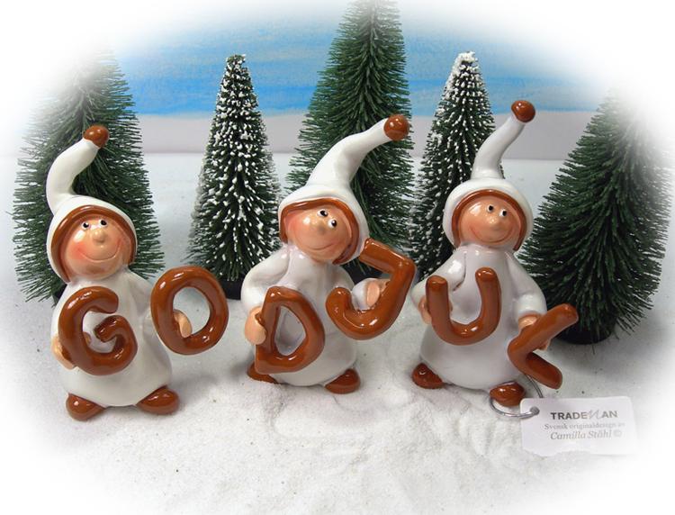 """""""God Jul"""" nissar i vitt och brunt"""