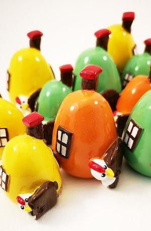 Små hus i äggform!