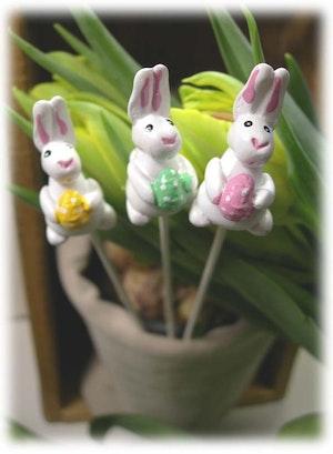 Blomsterstick, påskhare 3-pack