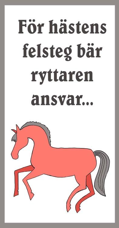 Tavla med citat om hästar
