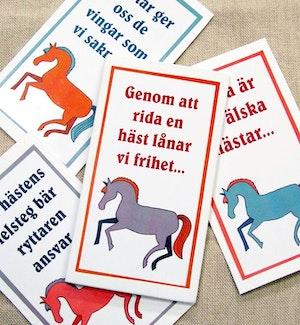 Magnet med citat om hästar