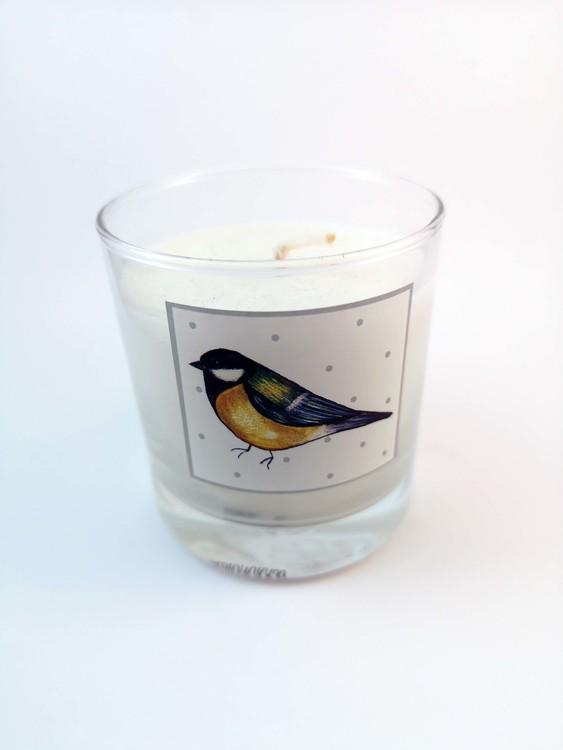 Doftljus med fåglar