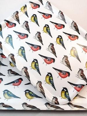 Bricka med fåglar
