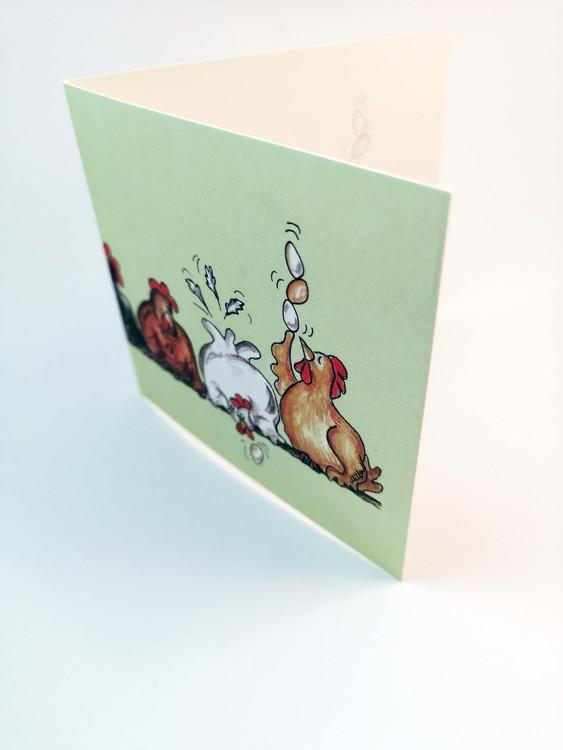 Dubbla kort med djur