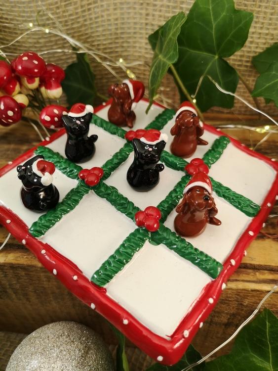 luffarschack med julmotiv