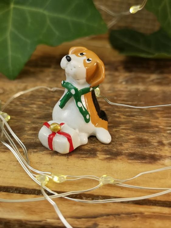 beagle med paket polystone