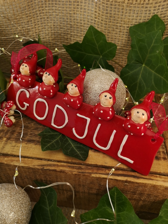 Dörrskylt God Jul