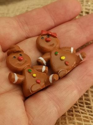 Pepparkaksfigurer i miniformat