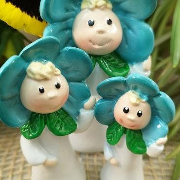 Blomsterbarn, turkos