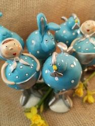 Påskfigurer i blått