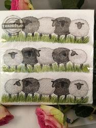 Servetter med får
