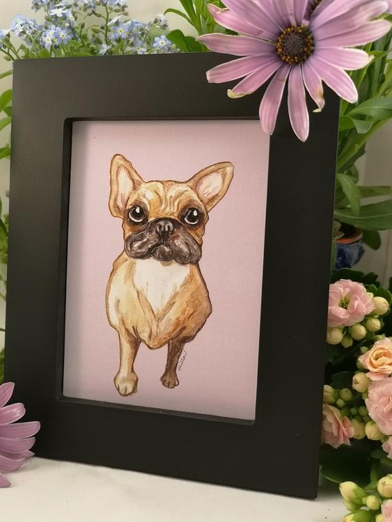Tavla, stående hund