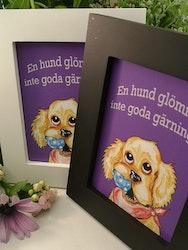 """Tavla, """"En hund glömmer inte.."""""""