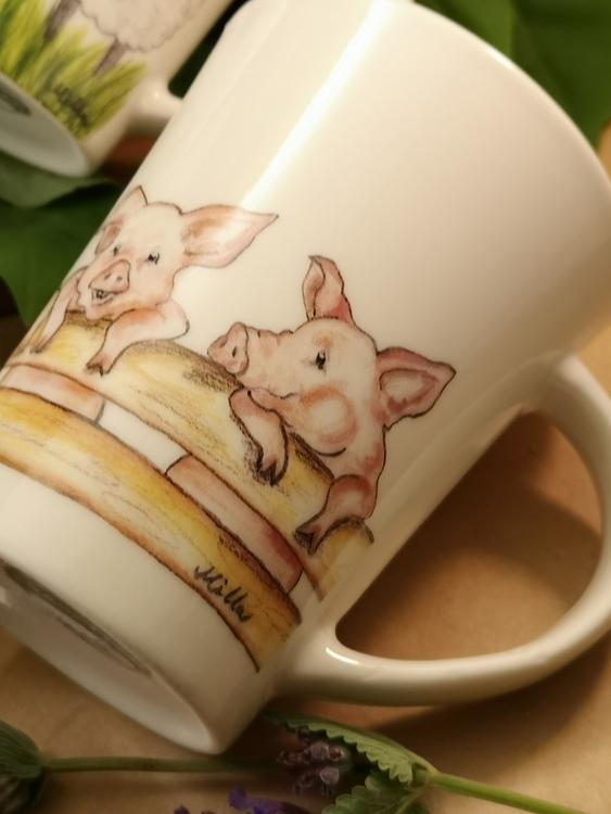 Mugg med grisar