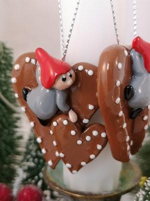 Pepparkakor med tomte till julgranen