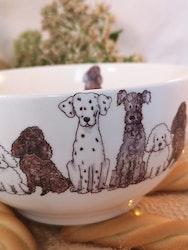 Skål med hundar, motiv nr 3