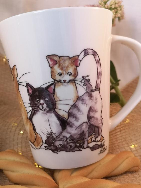 Mugg med katter, motiv nr 1